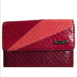 Celine lizard skin two-toned wallet